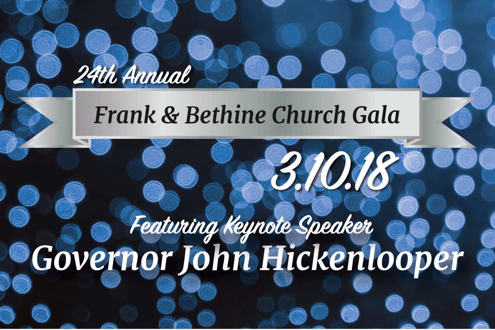 Frank & Bethine Church Gala Banner