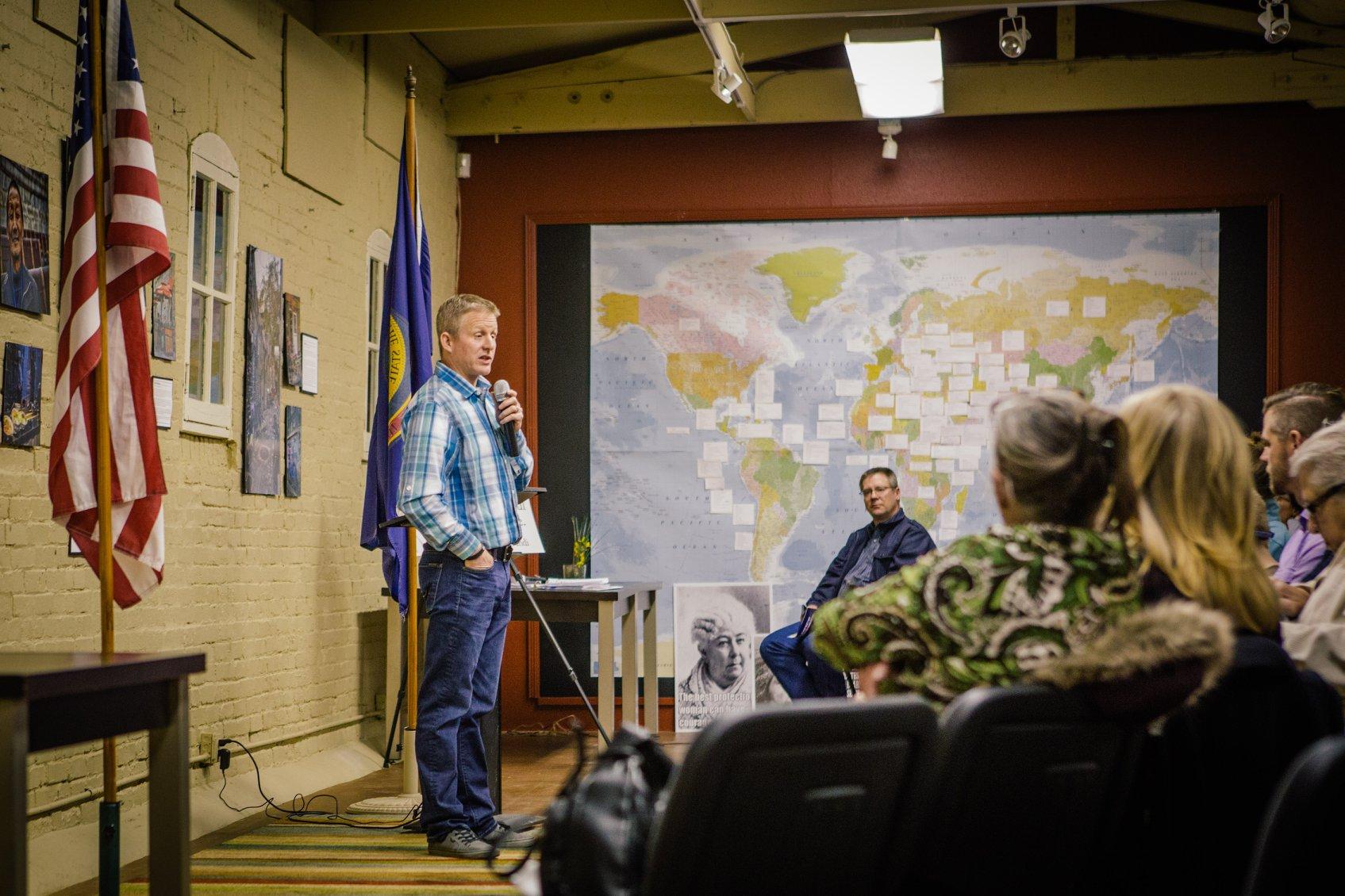 Consuming Politics, 2018 Pizza and Politics, Mat Erpelding, Kootenai Democrats