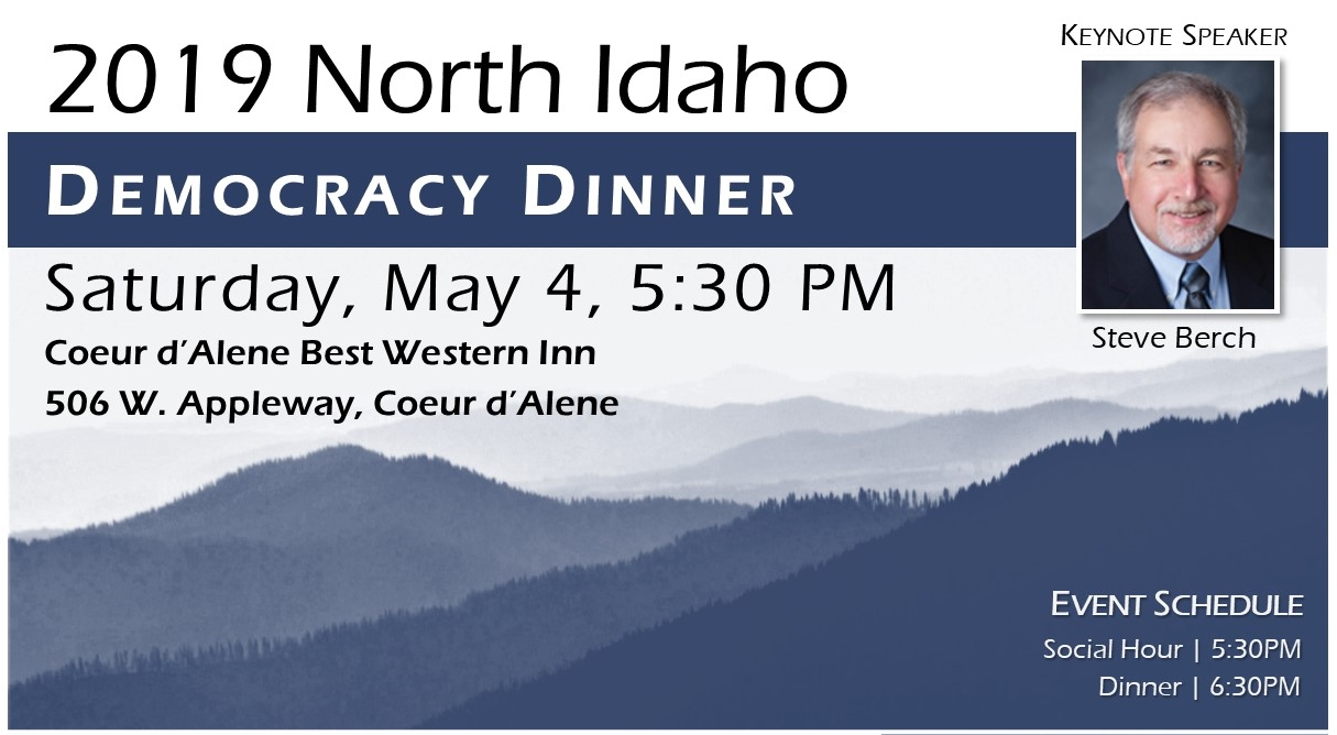 North Idaho Democracy Dinner 2019 Banner