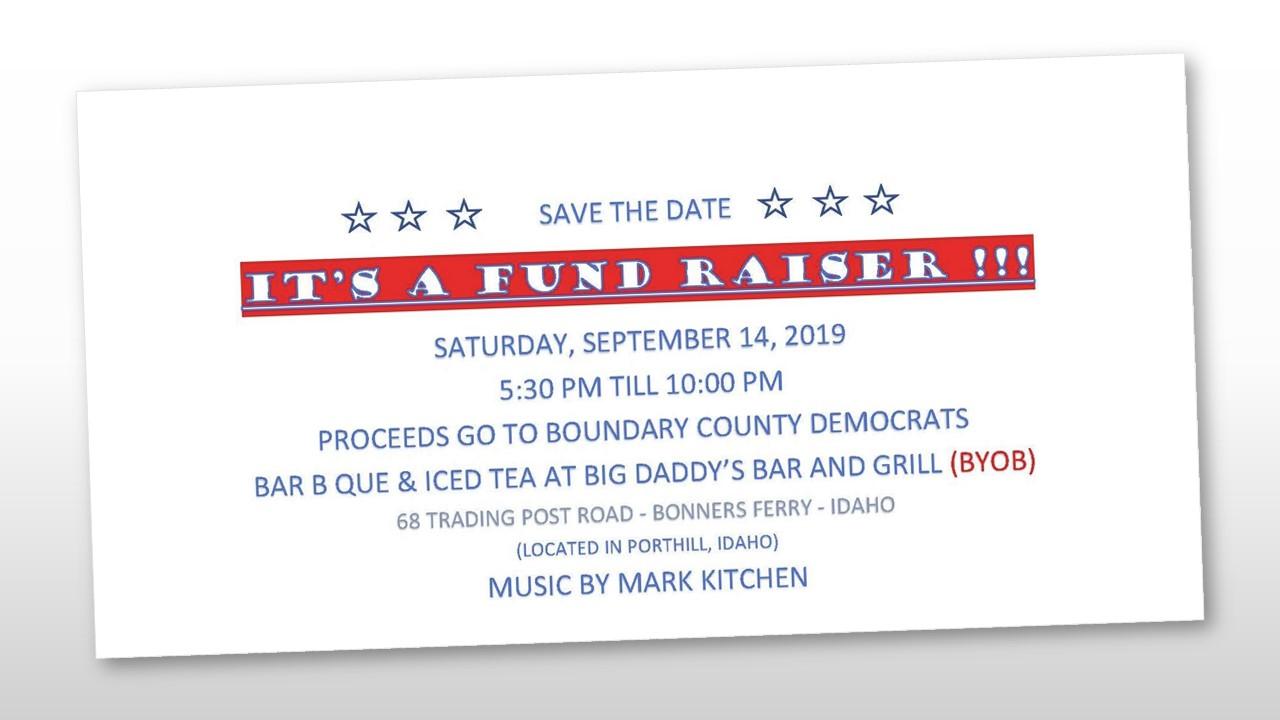 Boundary County Fund Raiser