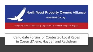 NWPOA Candidate Forum