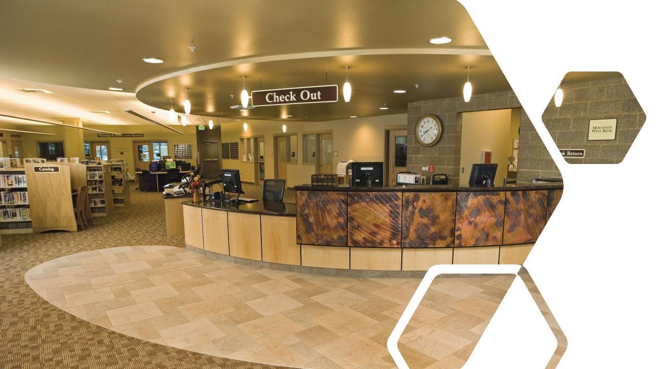 Reception desk at the CDA Library