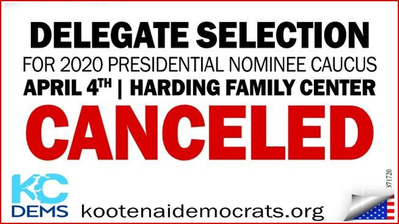 Caucus Cancelled ad