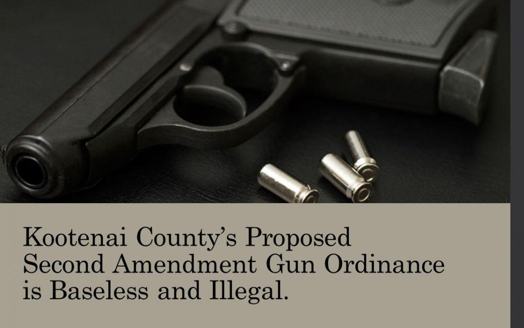 Regarding Kootenai County's Proposed Second Amendment Ordinance