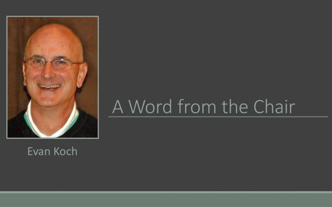 A WORD FROM THE CHAIR, ISSUE 37, VOLUME 1