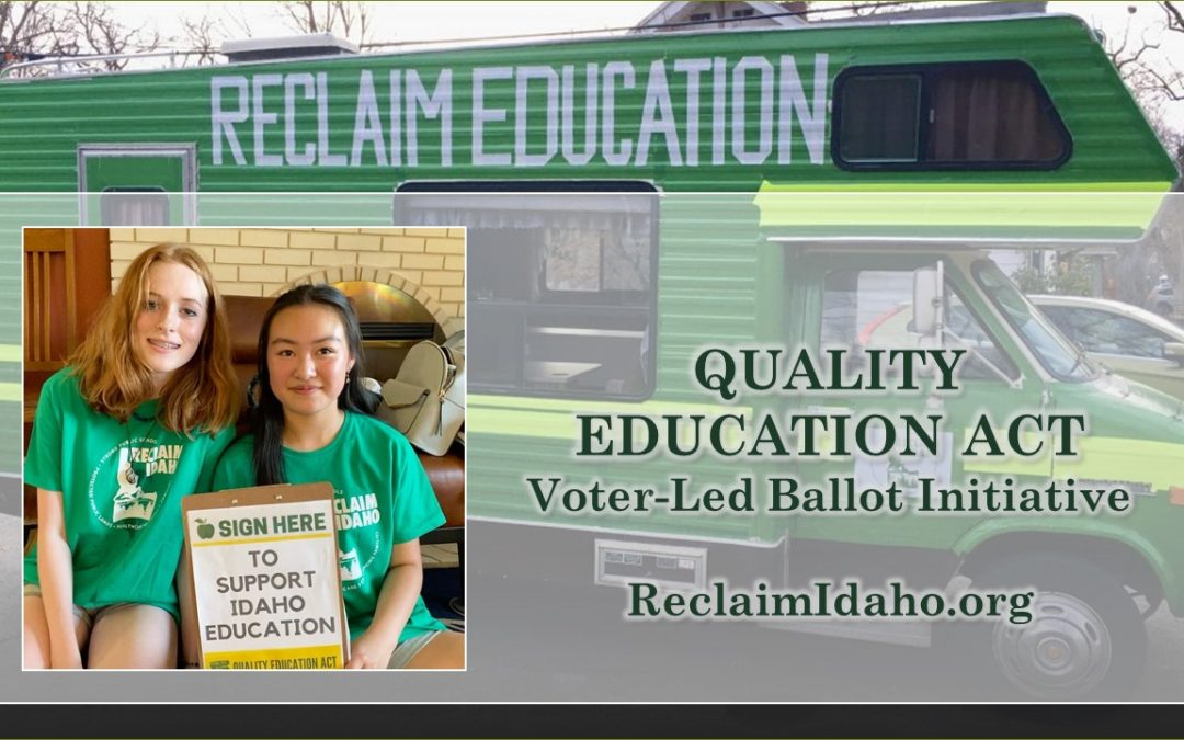 Help Idaho get out of last place in education funding.